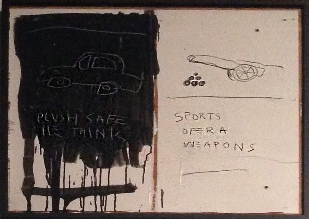 Jean-Michel Basquiat: Plush Safe-He Think, 1981.