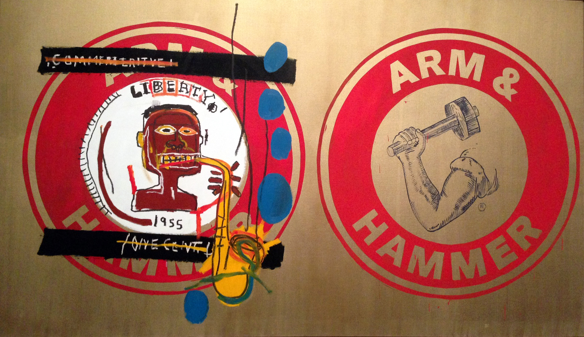 Jean-Michel Basquiat and Andy Warhol: Arm and Hammer II, 1984.