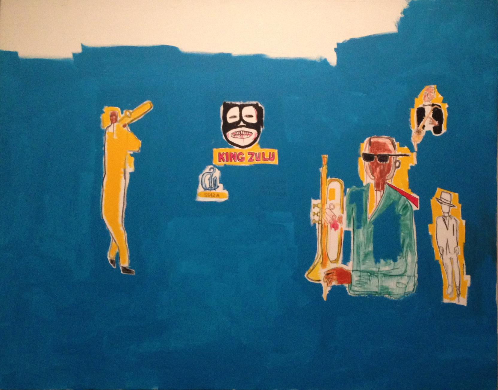 Jean-Michel Basquiat: King Zulu, 1986.