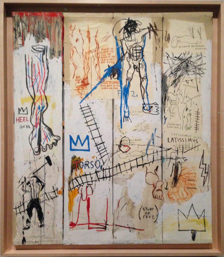 Jean-Michel Basquiat: Leonardo da Vinci's Greatest Hits, 1982.